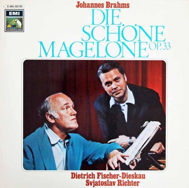 F=ディースカウ&リヒテルのブラームス/歌曲集「マゲローネのロマンス」 独EMI 3394 LP レコード