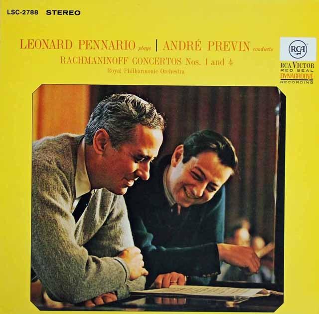 ペナリオ&プレヴィンのラフマニノフ/ピアノ協奏曲第1&4番   独RCA 3394 LP レコード