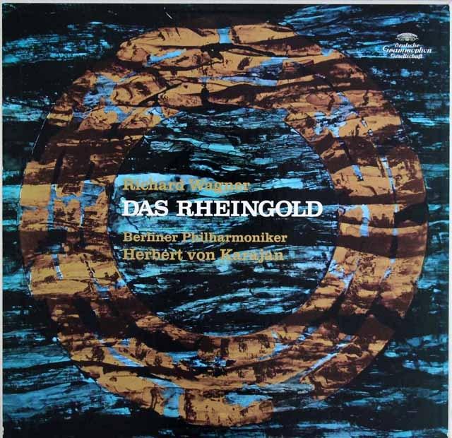 【サイン入り】カラヤンのワーグナー/「ラインの黄金」全曲  独DGG 3003 LP レコード