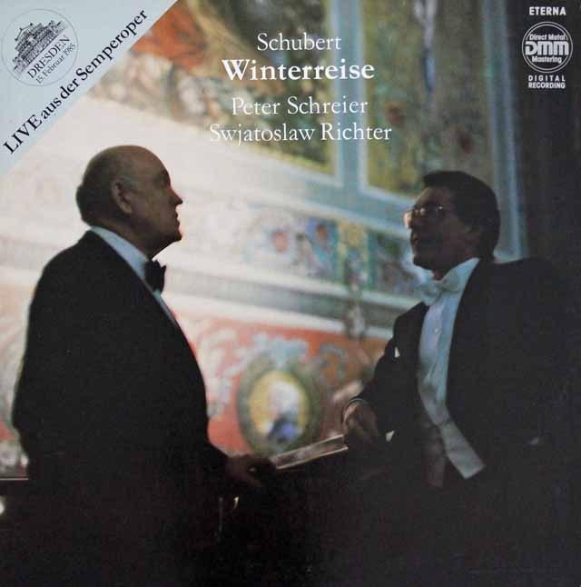 リヒテル&シュライアーのシューベルト/歌曲集「冬の旅」  独ETERNA 3394 LP レコード