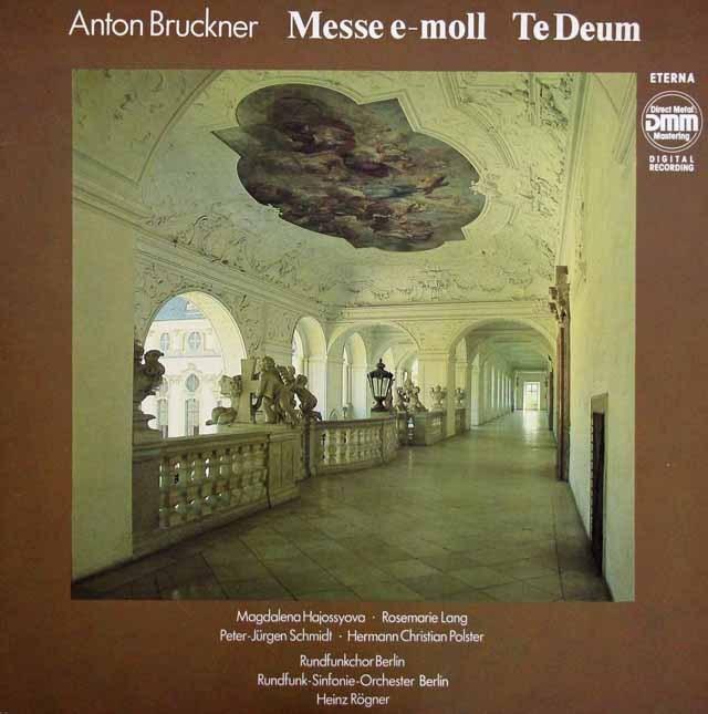 レーグナーのブルックナー/ミサ曲第2番&「テ・デウム」  独ETERNA 3004 LP レコード