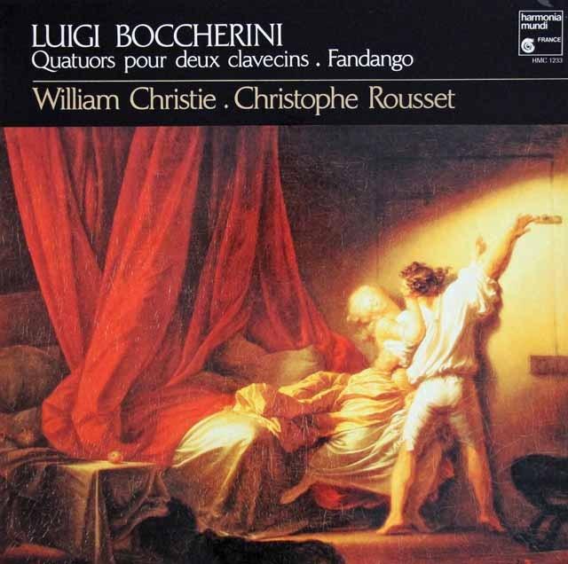 クリスティ&ルセのボッケリーニ/2つのチェンバロのためのファンダンゴ&四重奏曲集  仏HM 3004 LP レコード