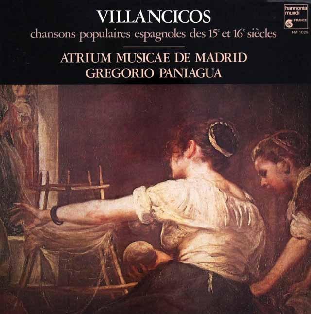 パニアグアの15&16世紀スペインのクリスマス民謡  仏HM 3004 LP レコード