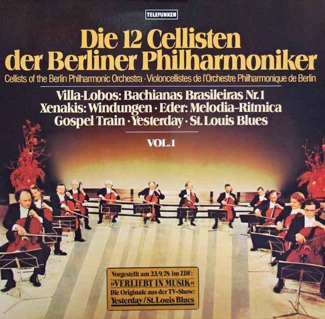 ベルリン・フィルの12人のチェロ奏者たち vol.1  独TELEFUNKEN 3004 LP レコード