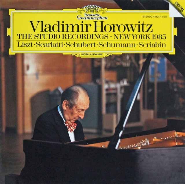 「ホロヴィッツ・スタジオ・レコーディングス 1985」  独DGG 3004 LP レコード