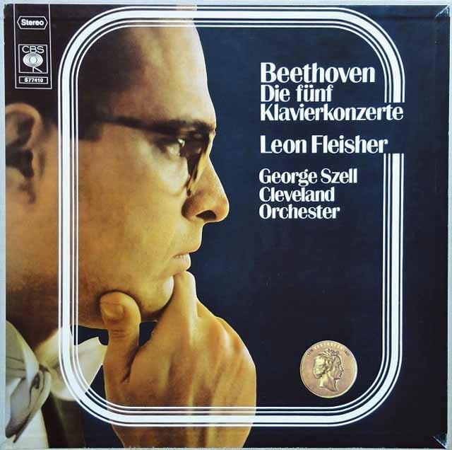 フライシャー&セルのベートーヴェン/ピアノ協奏曲全集  独CBS 3004 LP レコード