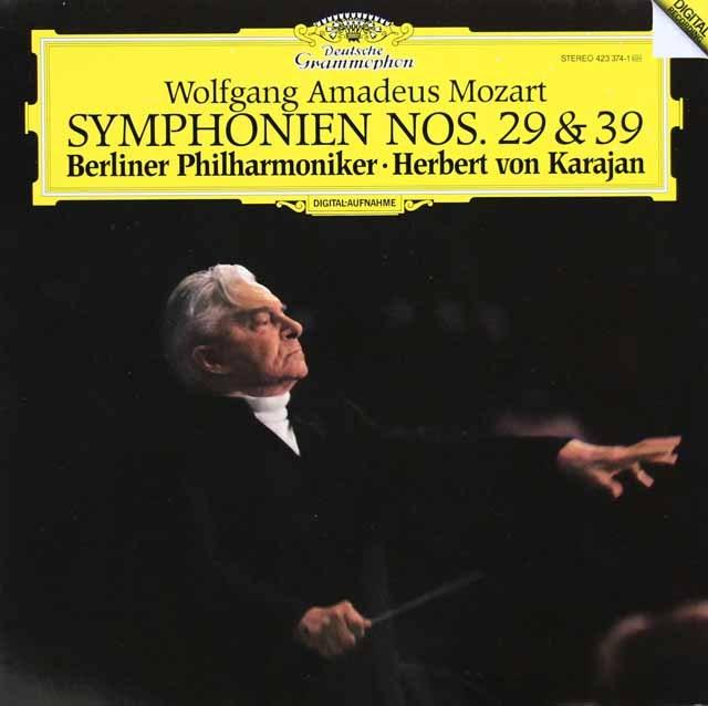 【テストプレス】カラヤンのモーツァルト/交響曲第29&39番  独DGG 3006 LP レコード