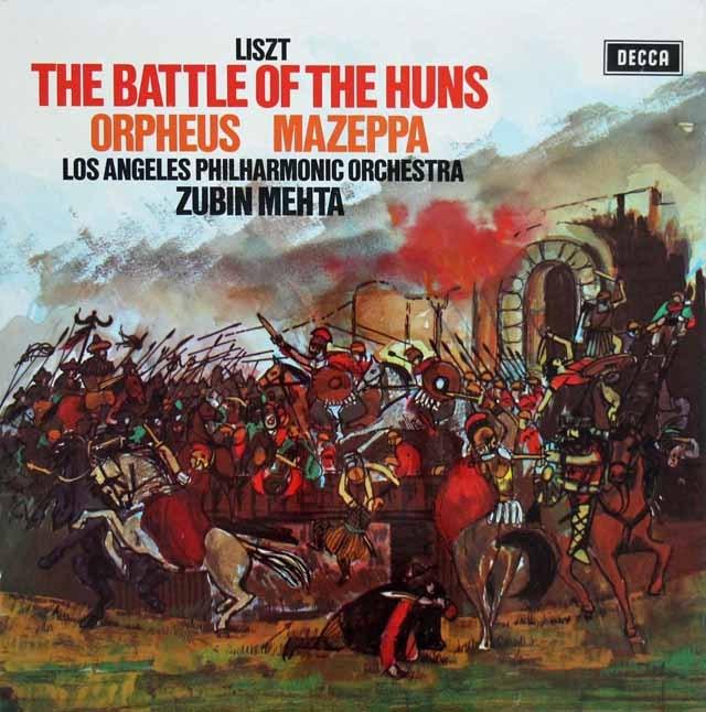 【オリジナル盤】 メータのリスト/交響詩「フン族の戦い」ほか  英DECCA 3393 LP レコード