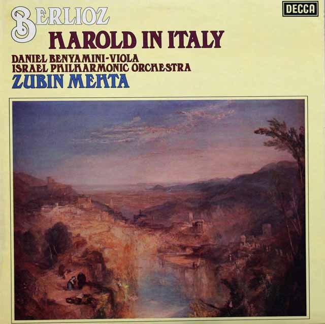 【オリジナル盤】 メータのベルリオーズ/交響曲「イタリアのハロルド」  英DECCA 3393 LP レコード