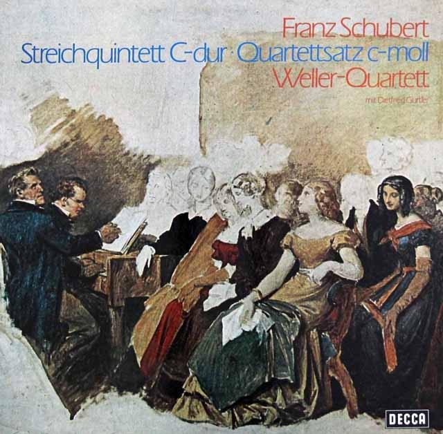 ウェラー四重奏団のシューベルト/弦楽五重奏曲ハ長調ほか  独DECCA 3006 LP レコード