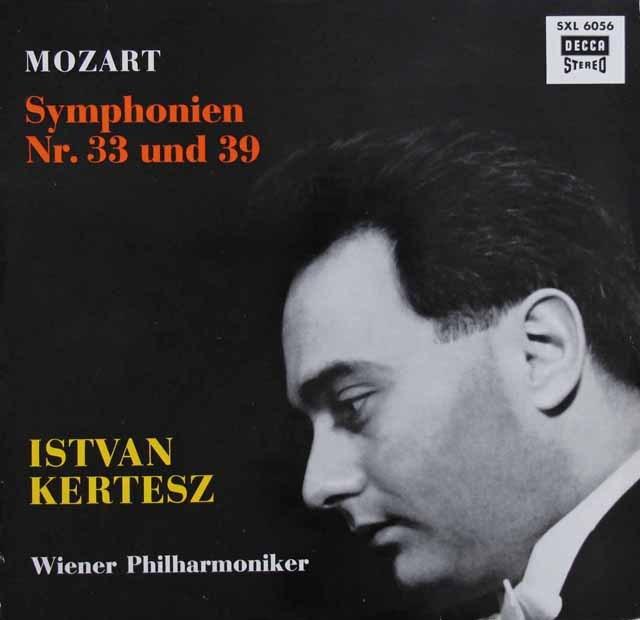 ケルテスのモーツァルト/交響曲第33&39番  独DECCA 3006 LP レコード