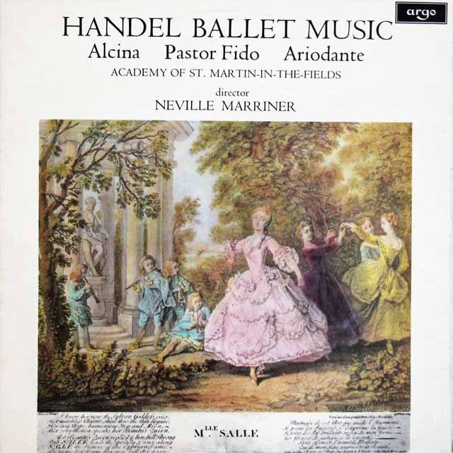 マリナーのヘンデル/バレエ音楽集 英argo 3393 LP レコード