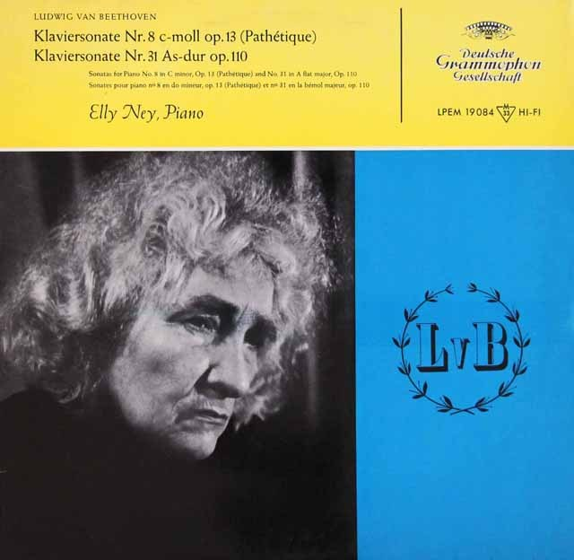 ナイのベートーヴェン/ピアノソナタ第8番「悲愴」&第31番  独DGG 3007 LP レコード