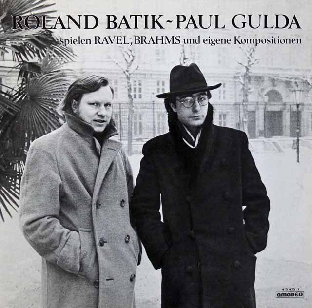バティック、ポール・グルダのブラームス ラヴェル/2台のピアノのための作品集 オーストリアamadeo 3393 LP レコード
