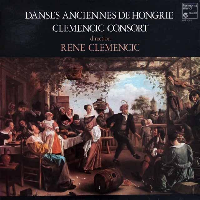 クレメンチッチ・コンソートのハンガリーの古い舞曲集  仏HM 3007 LP レコード