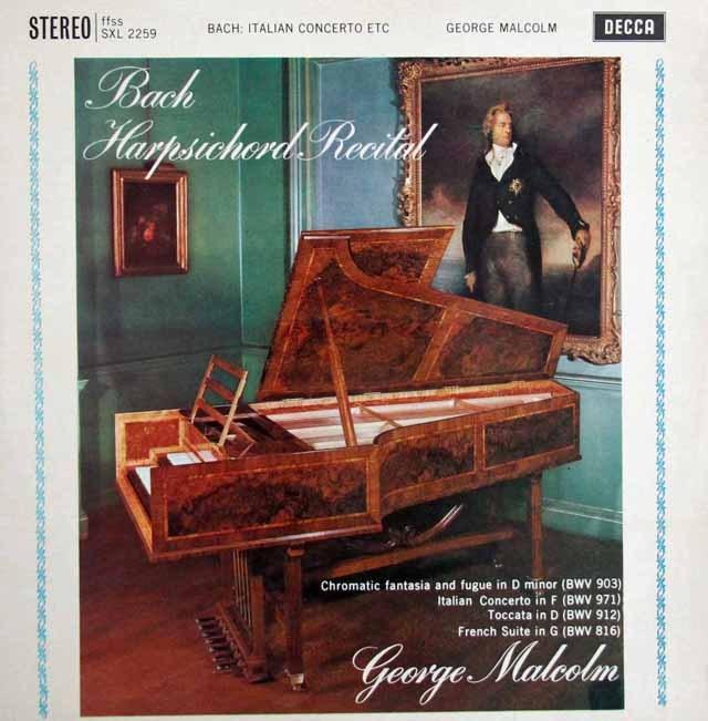 【オリジナル盤】 マルコムのバッハ/「イタリア協奏曲」ほか  英DECCA 3393 LP レコード