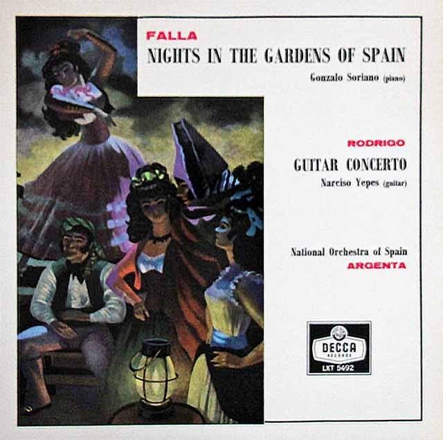 【モノラル】イエペス&アルヘンタのロドリーゴ/「アランフェス」協奏曲ほか 英DECCA 3007 LP レコード