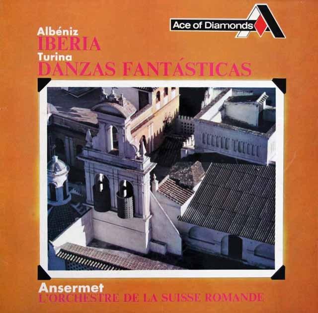 アンセルメのアルベニス/「イベリア」ほか  英DECCA 3393 LP レコード