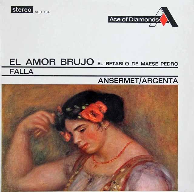 アンセルメ&アルヘンタのファリャ/「恋は魔術師」&「ペドロ親方の人形芝居」  英DECCA 3007 LP レコード