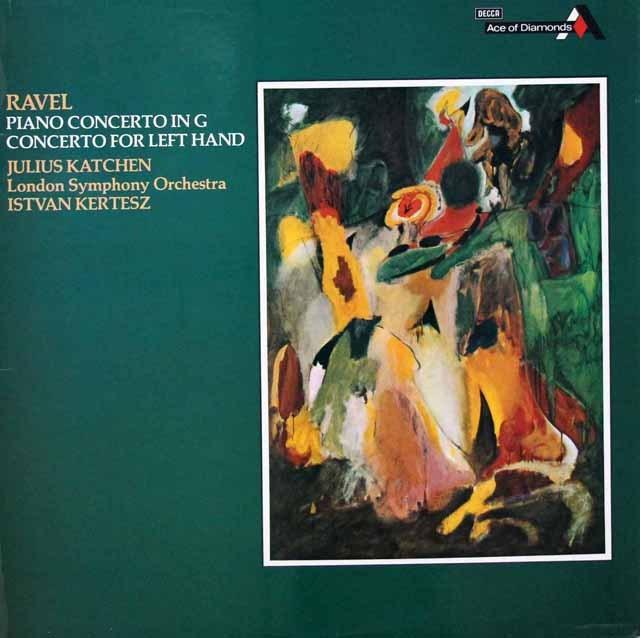 カッチェン&ケルテスのラヴェル/左手のための協奏曲ほか   英DECCA 3393 LP レコード