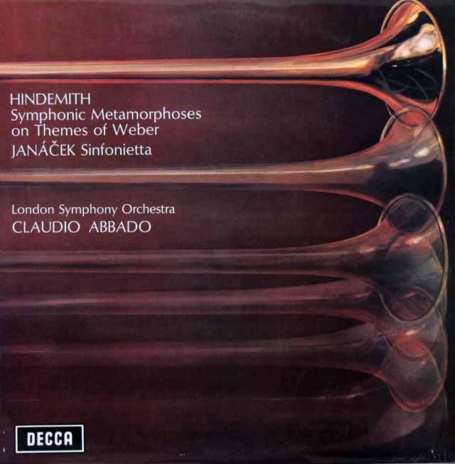 アバドのヒンデミット/「ウェーバーの主題による交響的変容」ほか   英DECCA 3393 LP レコード
