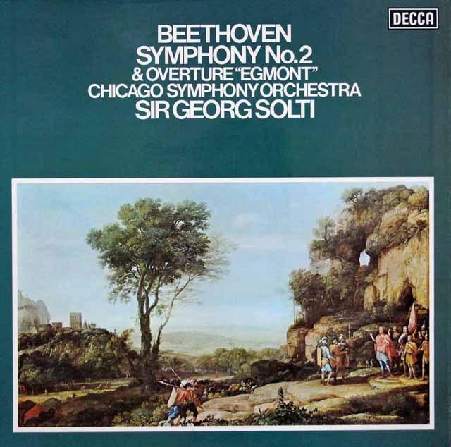 【オリジナル盤】ショルティのベートーヴェン/交響曲第2番ほか   英DECCA 3007 LP レコード
