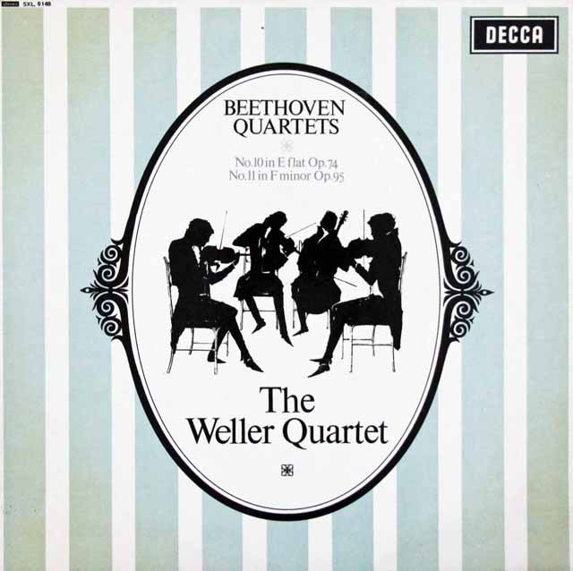 【オリジナル盤】ウェラー四重奏団のベートーヴェン/弦楽四重奏曲第10&11番   英DECCA 3007 LP レコード