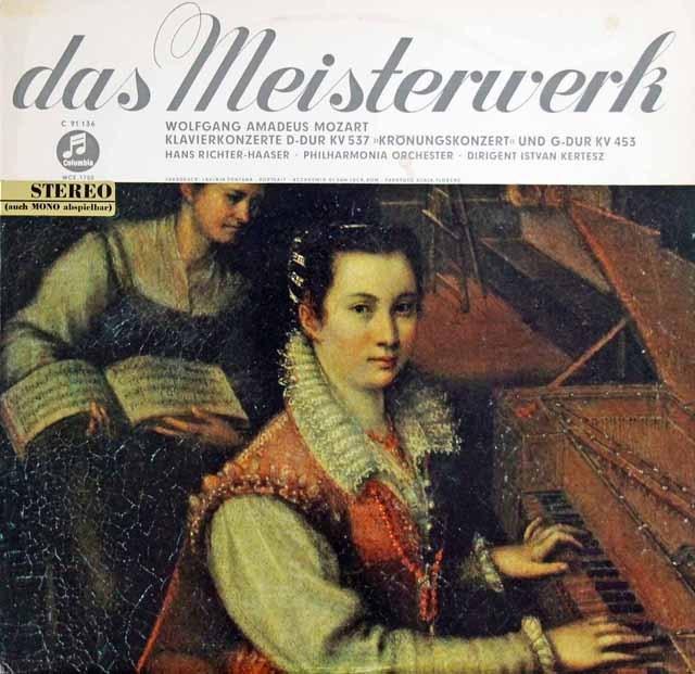 【ドイツ最初期盤】リヒター=ハーザー&ケルテスのモーツァルト/ピアノ協奏曲第17&26番「戴冠式」  独Columbia 3008 LP レコード