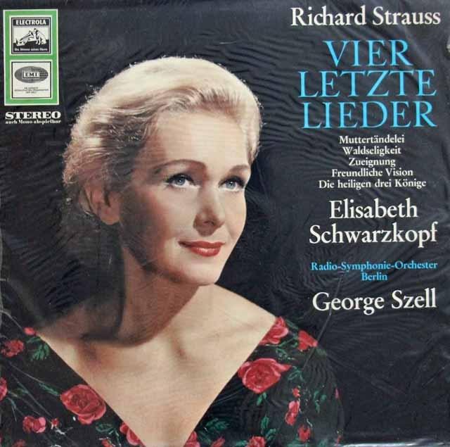 【未開封】シュヴァルツコップ&セルのR.シュトラウス/「4つの最後の歌」ほか  独EMI 3008 LP レコード