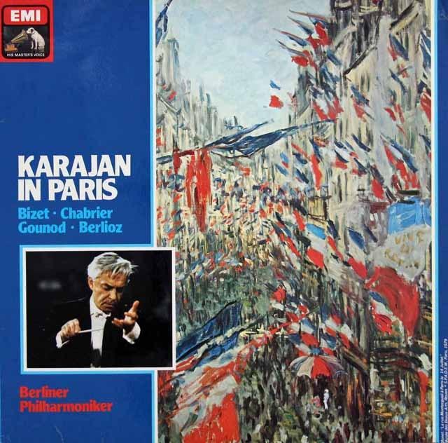 「カラヤン・イン・パリ」(フランス作曲家作品集)  独EMI 3008 LP レコード