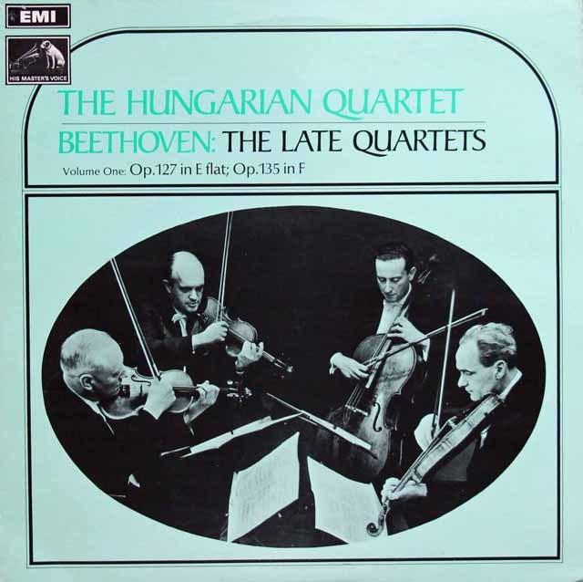 ハンガリー四重奏団のベートーヴェン/弦楽四重奏曲第12、16番  英EMI 3393 LP レコード