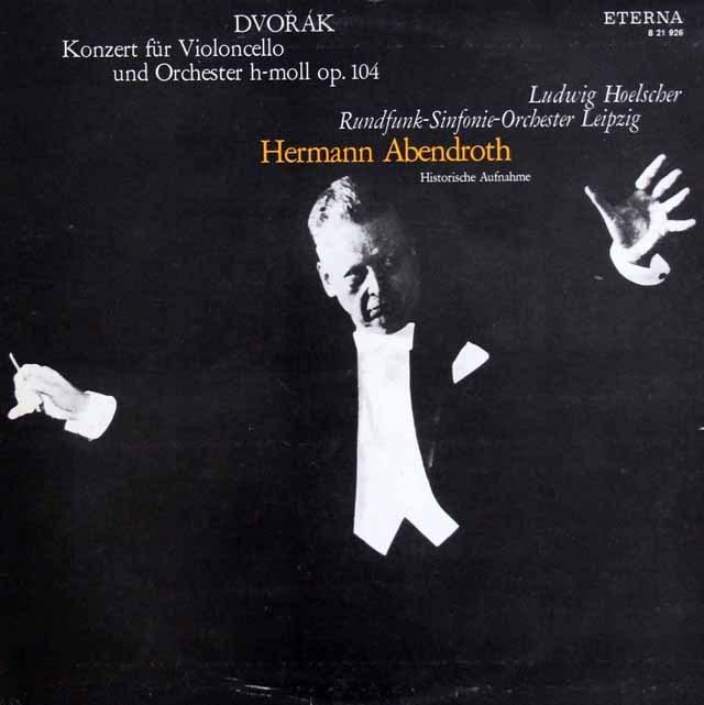 ヘルシャー&アーベントロートのドヴォルザーク/チェロ協奏曲  独ETERNA 3008 LP レコード