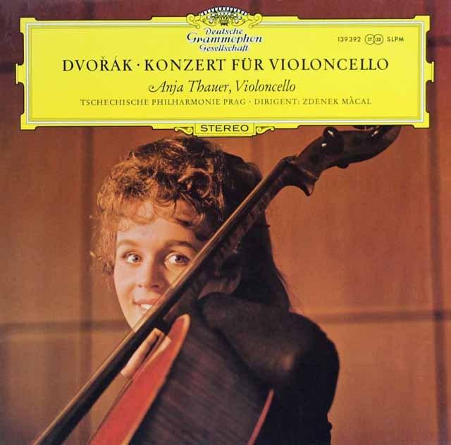 【オリジナル盤】タウアーのドヴォルザーク/チェロ協奏曲  独DGG 3008 LP レコード