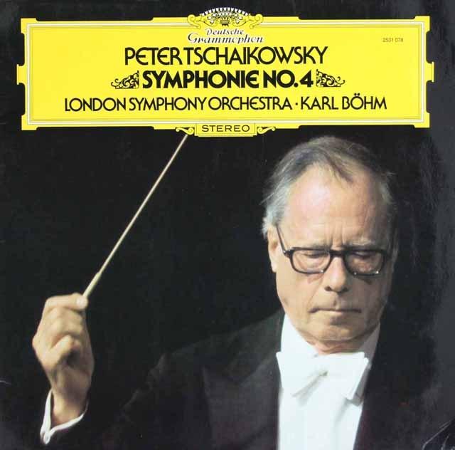 ベームのチャイコフスキー/交響曲第4番  独DGG 3008 LP レコード