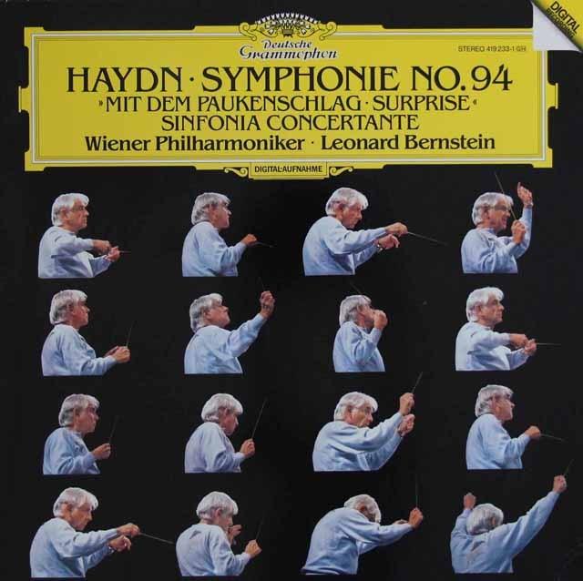 バーンスタインのハイドン/交響曲第94番「驚愕」ほか  独DGG 3393 LP レコード