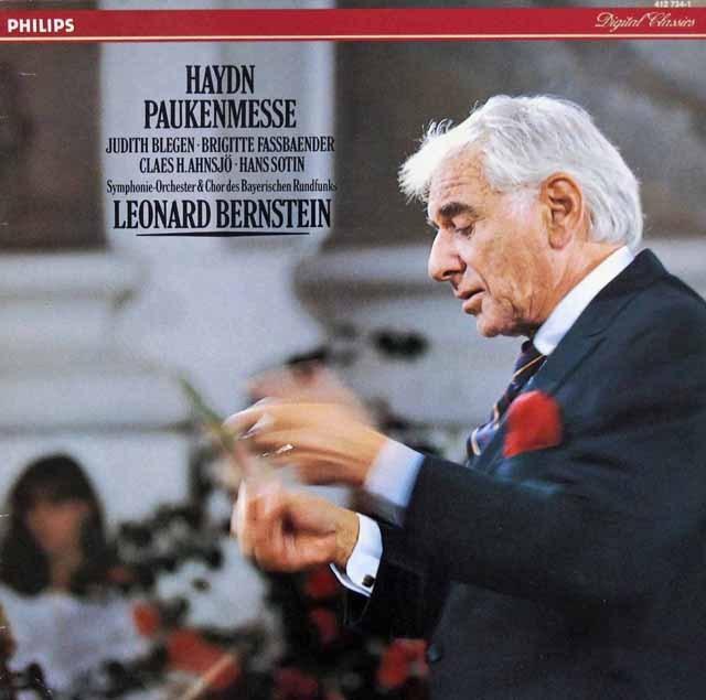 バーンスタインのハイドン/ミサ曲第7番「戦時のミサ」  蘭PHILIPS 3393 LP レコード