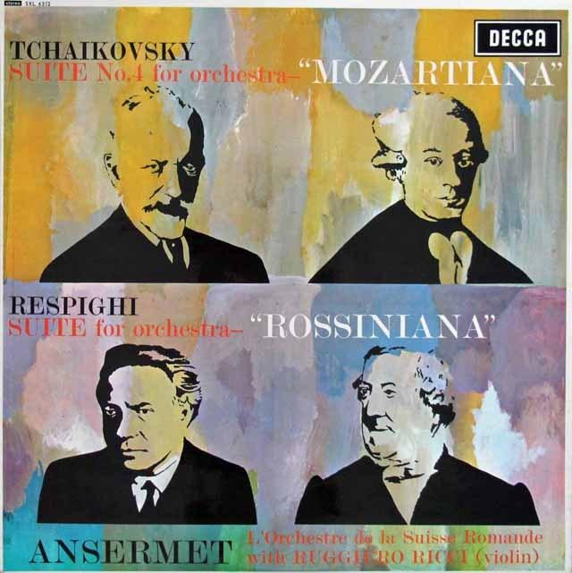 リッチ&アンセルメのチャイコフスキー/組曲第4番「モーツァルティアーナ」ほか  英DECCA 3393 LP レコード
