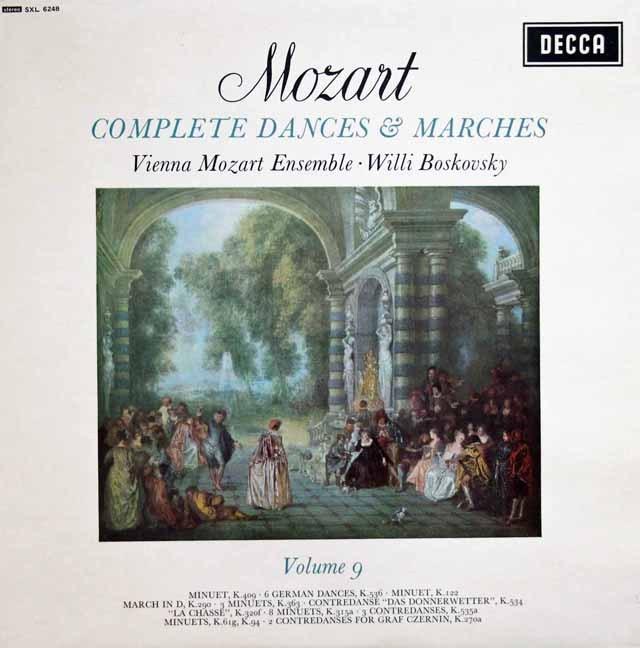 ボスコフスキーの「モーツァルト/舞曲と行進曲全集」(9)  英DECCA 3008 LP レコード
