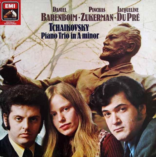 【オリジナル盤】バレンボイム、デュ・プレらのチャイコフスキー/ピアノ三重奏曲「偉大な芸術家の思い出に」  英EMI 3009 LP レコード