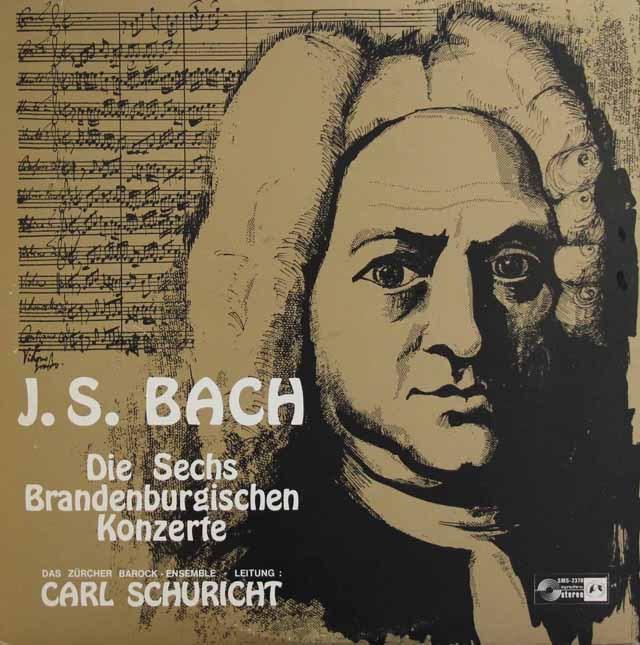 シューリヒトのバッハ/ブランデンブルク協奏曲   独CH 3009 LP レコード