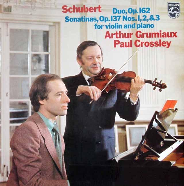 グリュミオー&クロスリーのシューベルト/ヴァイオリンソナタ集 蘭PHILIPS 3392 LP レコード