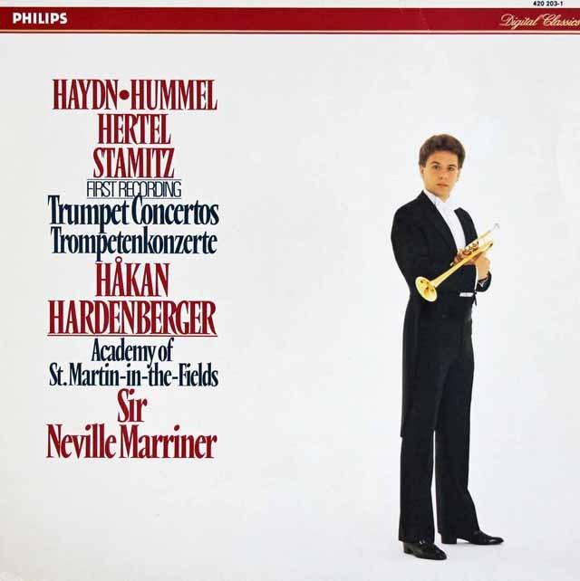 ハーデンベルガー&マリナーのトランペット協奏曲集 蘭PHILIPS 3392 LP レコード