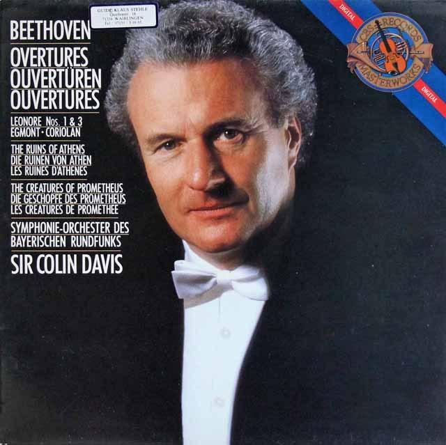 デイヴィスのベートーヴェン/序曲集   蘭CBS 3009 LP レコード