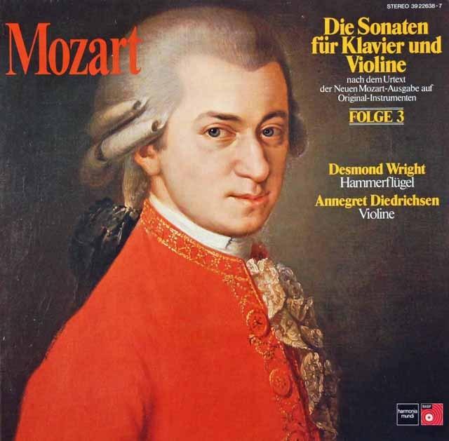 ディートリヒセンのモーツァルト/ヴァイオリンソナタ集 vol.3 独HM 3392 LP レコード