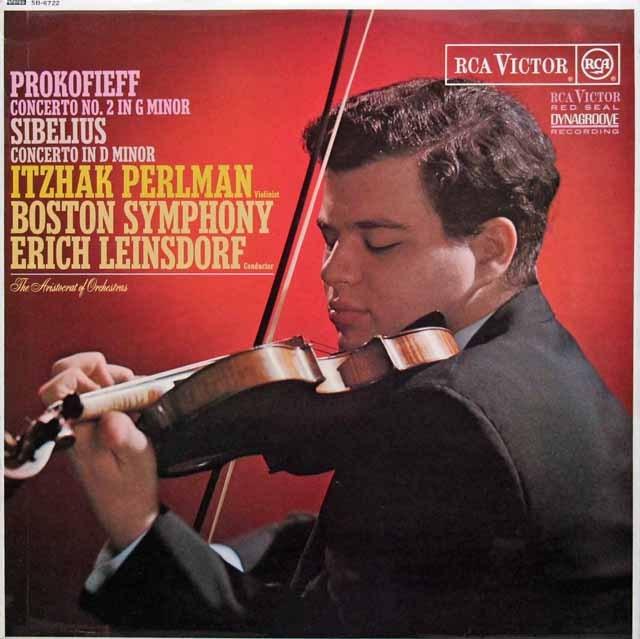 パールマン&ラインスドルフのプロコフィエフ/ヴァイオリン協奏曲ほか  英RCA 3011 LP レコード
