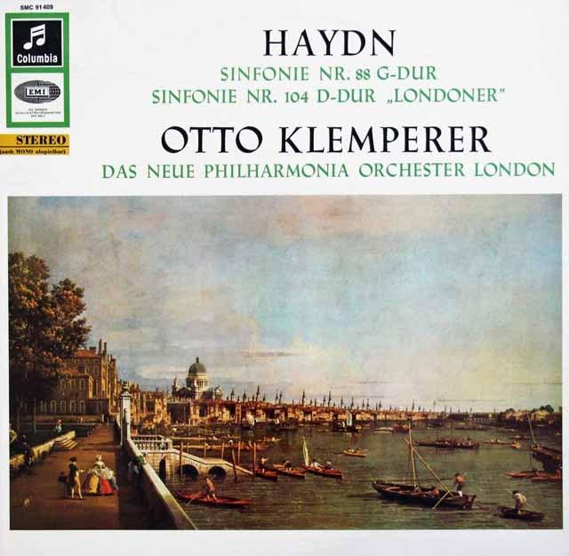 クレンペラーのハイドン/交響曲第88、104番「ロンドン」 独Columbia 3392 LP レコード