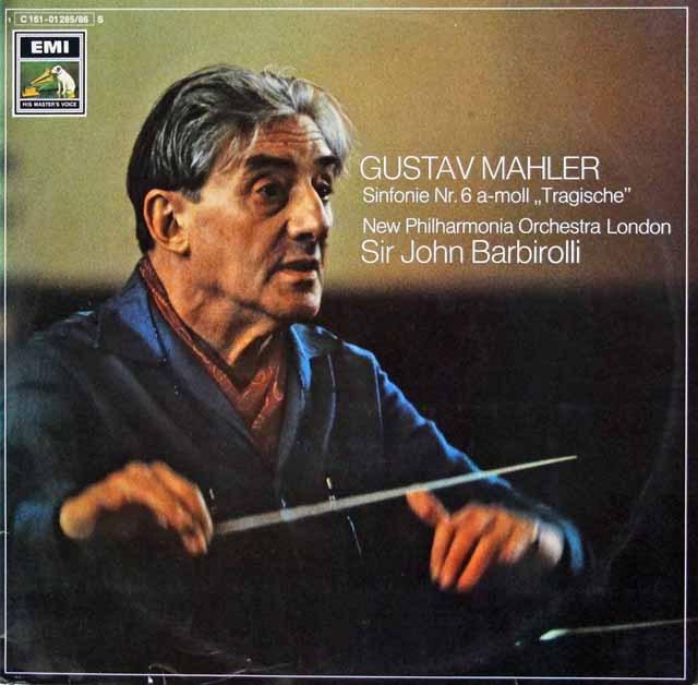 バルビローリのマーラー/交響曲第6番「悲劇的」   独EMI 3011 LP レコード