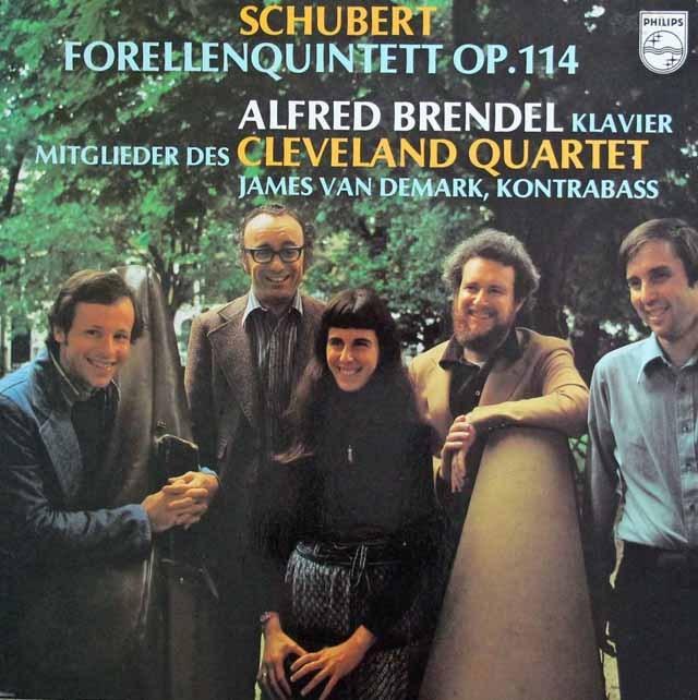 ブレンデル&クリーヴランド四重奏団のシューベルト/ピアノ五重奏曲「鱒」   蘭PHILIPS 3011 LP レコード