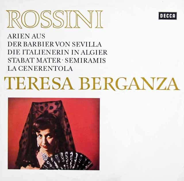 ベルガンサ、ロッシーニを歌う   独DECCA 3011 LP レコード