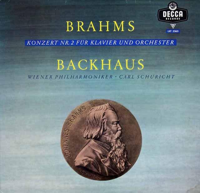 バックハウス&シューリヒトのブラームス/ピアノ協奏曲第2番  独DECCA 3011 LP レコード